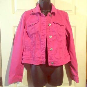 Pink American Eagle Jean Jacket Sz L